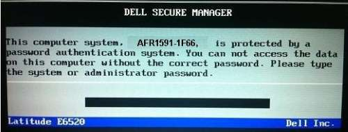 dell 1f66 laptop password