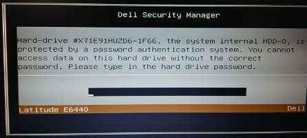 Dell Latitude E5250 master password