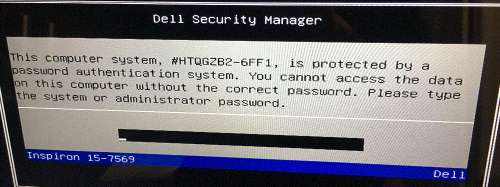 dell 6ff1 laptop password