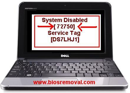 remove Dell inspiron 1720 master password