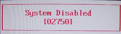 dell system disabled unlock code