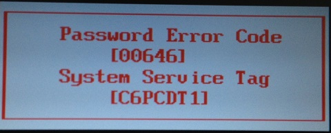dell bios password reset with service tag
